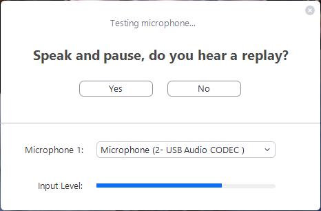 Testing microphones