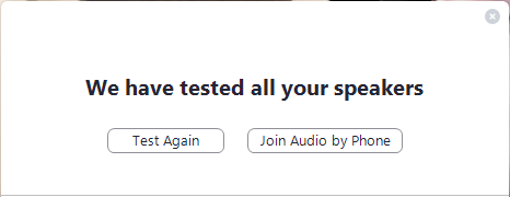 Tested all speakers
