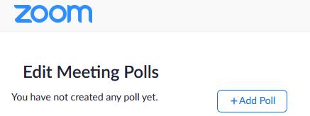 Edit polls screen