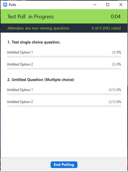 Poll in progress