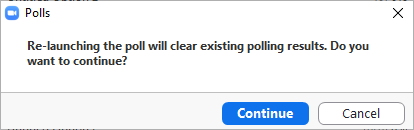 Re-launch polling popup