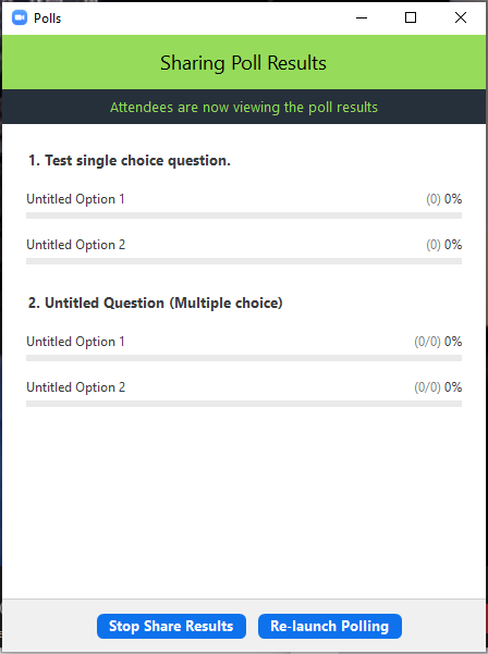 Sharing poll results