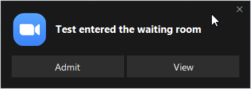 User entered the waiting room