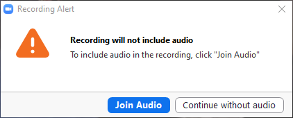 Join with or without audio
