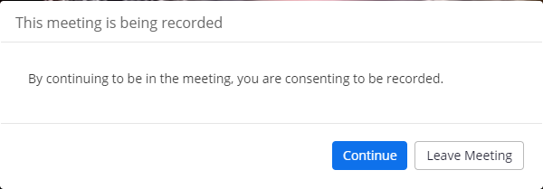 This meeting is being recorded