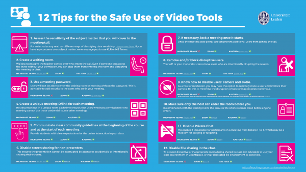 12 tips for the safe use of video tools