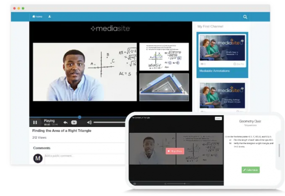 The Mediasite interface
